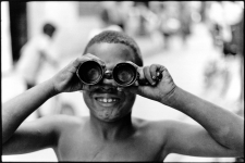 Boy with binoculars, Havana