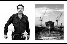 ship workers in Piraeus, Greece.
