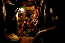 mine workers in Sri Lanka